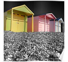 Beach Huts - Shoreham - West Sussex Poster