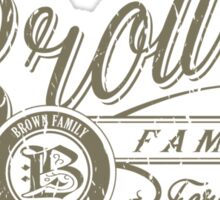 Brown Family - Army Sticker