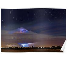 Stormy Startrails  Poster