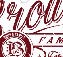 Brown Family - Deep Red Sticker