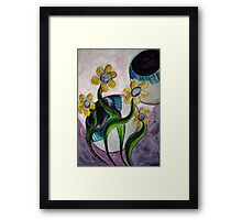 Goodness gracious great eye balls and flowers Framed Print