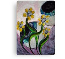 Goodness gracious great eye balls and flowers Canvas Print