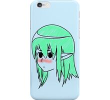 Anime girl colored iPhone Case/Skin