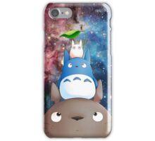 Totoro gang in nebula iPhone Case/Skin