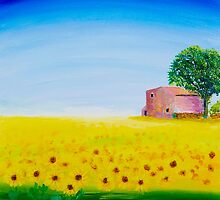 A FIELD IN DORDOGNE by DaveToveyArt