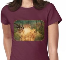 Victorian Christmas ~ White Santa Womens Fitted T-Shirt