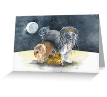 """On Stranger Paws"" Greeting Card"