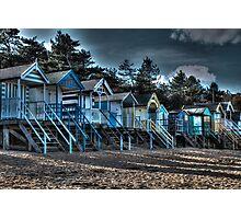 Beach scene.  Photographic Print