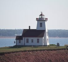 Wood Island PEI Lighthouse by Rose Landry