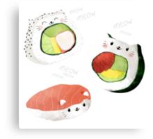 Cute Sushi Rolls Canvas Print