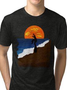 Karate Beach Tri-blend T-Shirt