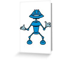Robot funny cool toys funny comic Greeting Card