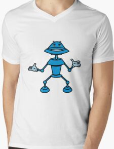 Robot funny cool toys funny comic Mens V-Neck T-Shirt