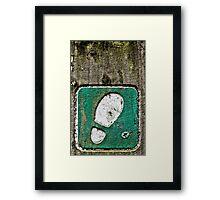 Footprint Framed Print