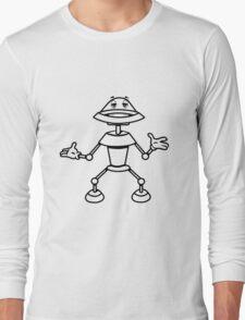 Robot funny cool toys funny comic Long Sleeve T-Shirt