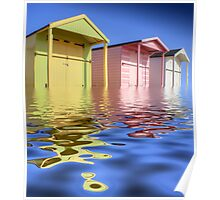 Beach Huts -  HDR Poster