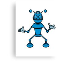 Robot funny cool toys funny antennas comic Canvas Print