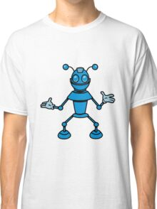Robot funny cool toys funny antennas comic Classic T-Shirt