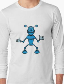 Robot funny cool toys funny antennas comic Long Sleeve T-Shirt