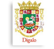 Digalo Shield of Puerto Rico Canvas Print