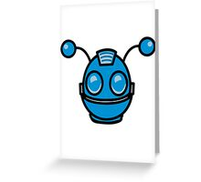 Robot funny cool toys fun antennas Greeting Card