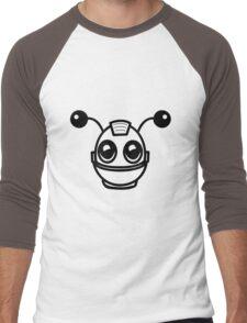Robot funny cool toys fun antennas Men's Baseball ¾ T-Shirt