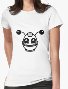 Robot funny cool toys fun antennas Womens Fitted T-Shirt