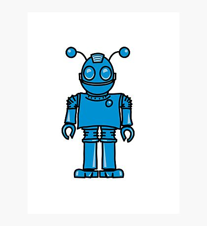 Funny cool robot toy fun Photographic Print