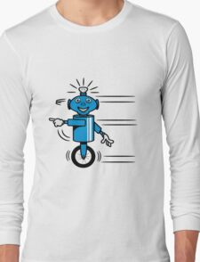 Robot funny cool fast funny dick comic Long Sleeve T-Shirt