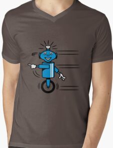 Robot funny cool fast funny dick comic Mens V-Neck T-Shirt