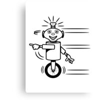 Robot funny cool fast funny dick comic Canvas Print