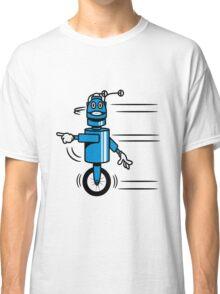 Funny cool fast funny robot comic Classic T-Shirt