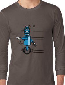 Funny cool fast funny robot comic Long Sleeve T-Shirt