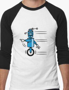 Funny cool fast funny robot comic Men's Baseball ¾ T-Shirt