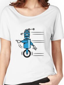 Funny cool fast funny robot comic Women's Relaxed Fit T-Shirt