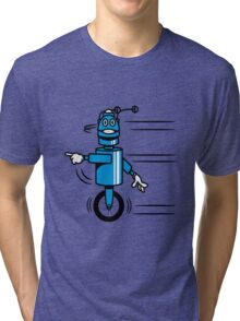 Funny cool fast funny robot comic Tri-blend T-Shirt