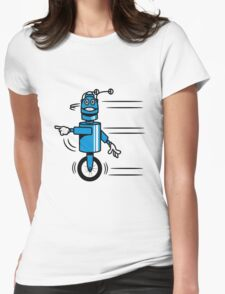Funny cool fast funny robot comic Womens Fitted T-Shirt