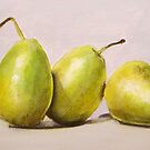 Green pears by Carole Russell