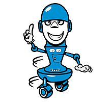 Funny cool comic wheels funny robot by Motiv-Lady
