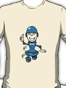 Funny cool comic wheels funny robot T-Shirt