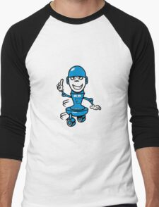 Funny cool comic wheels funny robot Men's Baseball ¾ T-Shirt