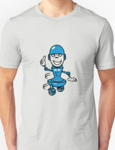Funny cool comic wheels funny robot Unisex T-Shirt