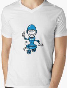 Funny cool comic wheels funny robot Mens V-Neck T-Shirt