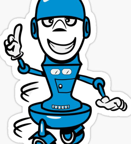 Funny cool comic wheels funny robot Sticker
