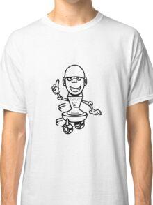 Funny cool comic wheels funny robot Classic T-Shirt