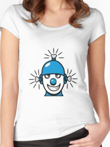 Funny cool wheels pears comic funny robot Women's Fitted Scoop T-Shirt