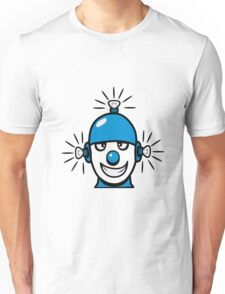 Funny cool wheels pears comic funny robot Unisex T-Shirt