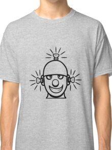 Funny cool wheels pears comic funny robot Classic T-Shirt