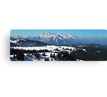 Panorama of Austrian Alps Canvas Print