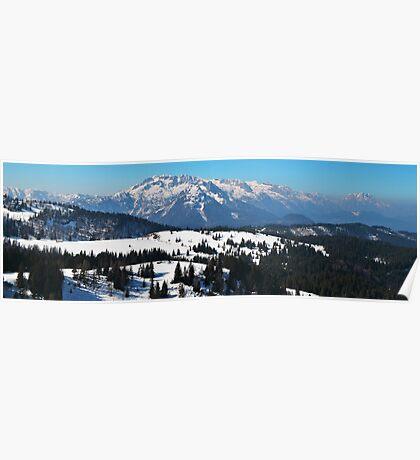 Panorama of Austrian Alps Poster